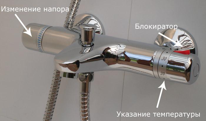 Принцип работы термостатического смесителя
