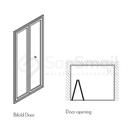 дверь в нишу Simpsons Bifold Ebfsc0900