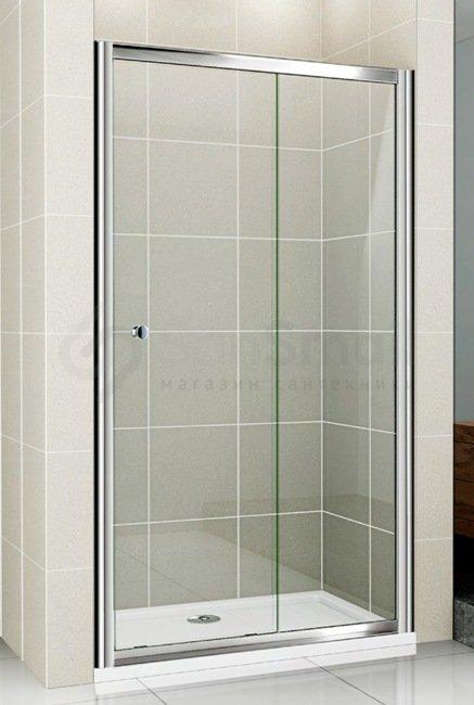 Душевая дверь в нишу Cezares Pratico BF1 125 C Cr теплый пол в ванной комнате