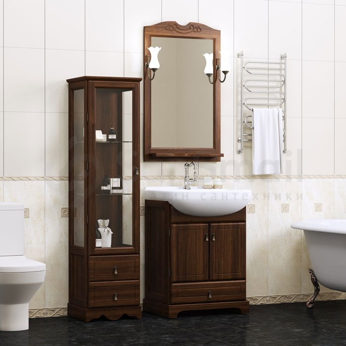 мебель для ванной из массива дерева купить в интернет магазине Sansmail