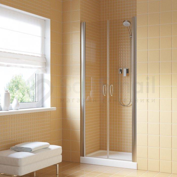 Душевая дверь в нишу Vegas Glass E2P 0085 05 10 профиль бронза, стекло сатин ванная комната красотка