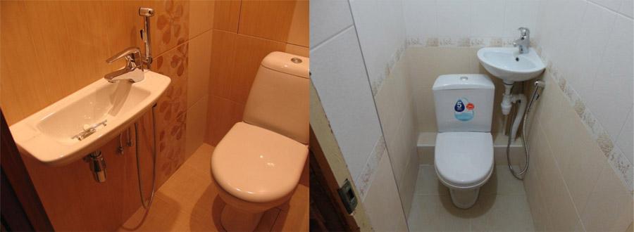 Маленькие раковины в туалете